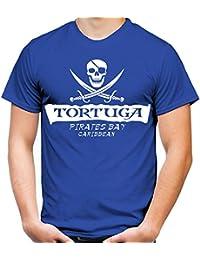 Tortuga Pirates Bay Männer und Herren T-Shirt | Spruch Jack Sparrow Geschenk