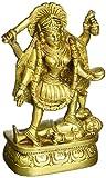 GangesIndia Göttin Kali Skulptur Messing Figur von Devi Kali BS0120(15,9cm H x 8,9cm W) Gold