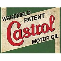 Castrol Motor Oil Metal Publicidad para la pared Retro arte garaje