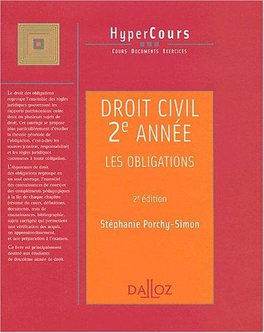 Droit civil, 2e année : Les obligations, 2e édition