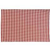 Leinsamenkissen 30x20cm Bio Stoff rot-weiß | Als Wärmekissen & Kältekissen | Körnerkissen