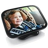 CSL - Rücksitzspiegel für Babys 23x16cm | Auto-Rückspiegel für die Babyschale | Sicherheitsspiegel | Verstellbare Träger / universale Form | splittersicher | Hoch- oder Querformatr
