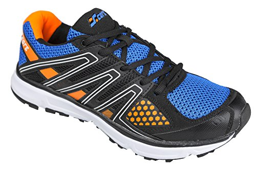 Gibra ® homme-noir/bleu/orange taille 41–46 pied Multicolore - schwarz/blau/orange
