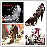 QUICKLYLY 3D Zapato Moldes de Postre/Pastel/Galleta/tartas y bizcochos Formas De