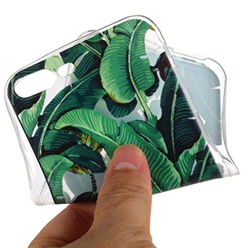 """Hülle für Apple iPhone 7 Plus , IJIA Transparent Gänseblümchen TPU Weich Handyhülle Silikon Stoßkasten Cover Schutzhülle Handytasche Schale Case Tasche für Apple iPhone 7 Plus (5.5"""") HX107"""