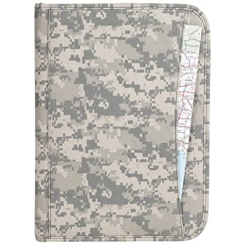 Deluxe Digital Camouflage Padfolio Folder with Legal Size Writing Pad and Card Slots by Onlinesuperstore - Deluxe Padfolio