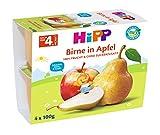 Hipp Früchte im Becher, Birne in Apfel, 6er Pack (6 x 4 x 100 g)
