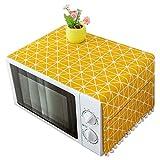 TOOGOO Couverture Style Moderne Couvercle Anti-Poussière pour Micro-Ondes Hotte Four à Micro-Ondes Décoration De Maison Serviette à Micro-Ondes avec Pochette Fourniture à Domicile Chaud
