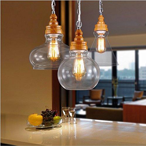 Paese nordico American creativi designer e personalità retrò ristorante bar caffetteria Lampadario Lampada cristallo legno di illuminazione