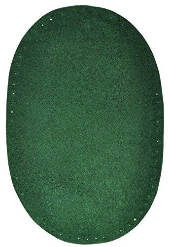 Unbekannt 1 Stk. Wildleder - echtes Leder - Flicken - dunkel grün / jägergrün - 10 cm * 15,5 cm -...