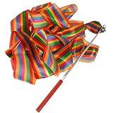 Homeking - Nastro per ginnastica ritmica e danza, 4 m, 8 colori, Multicolour
