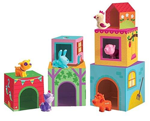 Djeco Topanifarm - Cubos apilables