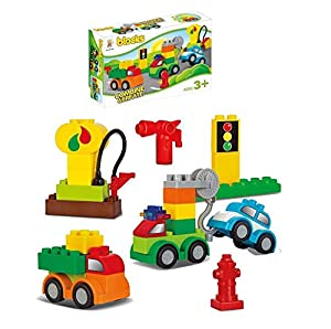 FACTORY CR- Juego Blocks Coches 37 Piezas 23X35X8cm Compatible (658261), (1)