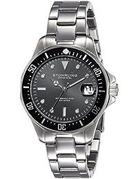 Stührling Original 664.01 - Reloj analógico para hombre, correa de acero inoxidable, color plateado