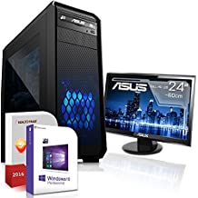 Gaming PC Komplett Set / Multimedia COMPUTER inkl. Windows 10 Pro 64-Bit! - AMD Quad-Core A10-7870K 4 x 4,1 GHz - AMD Radeon HD R7 - 16GB DDR3 RAM - 1000GB HDD - ASUS 24-Zoll TFT Monitor - 24-fach DVD Brenner - USB 3.0 - DVI - HDMI - VGA - Gamer PC mit 3 Jahren Garantie!