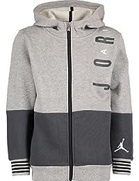6ac545c696 Nike AIR Jordan Grey   Charcoal Zipped Hoodie Boys Size 7 Years