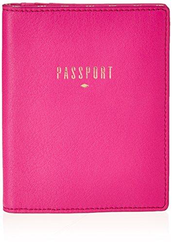 Fossil Damen Passport Ausweishülle, Pink (Hot Pink), 1.27 x 13.97 x 11.43 cm (Rosa Schuhe Leder Hot)