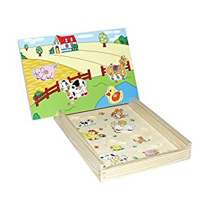 Small Foot Company 4549  - Granja Puzzle Magnético