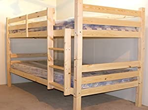 DOUBLE Bunkbed - 4ft 6 TWIN Bunk Bed - VERY STRONG BUNK! - Can be used by adults - Includes 2x 15cm thick sprung mattresses
