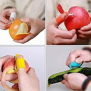 MK- portable doigt éplucheur agrumes zester d'orange épluche légumes rosser Fruit Peeler (couleur aléatoire)