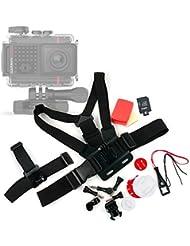 Kit complet d'accessoires pour Garmin VIRB Ultra 30, Lamax X7 Mira & X8 Electra caméras d'action, caméra de sport / d'action - DURAGADGET