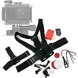 DURAGADGET Kit de accesorios para Cámara de acción Garmin VIRB Ultra 30 / Intova ConneX / DUB / Duo / HD2 / Nova HD / X2