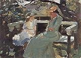 Das Museum Outlet–auf der Gartenbank, und Anna hekga Thorup von Anna Ancher, gespannte Leinwand Galerie verpackt. 29,7x 41,9cm