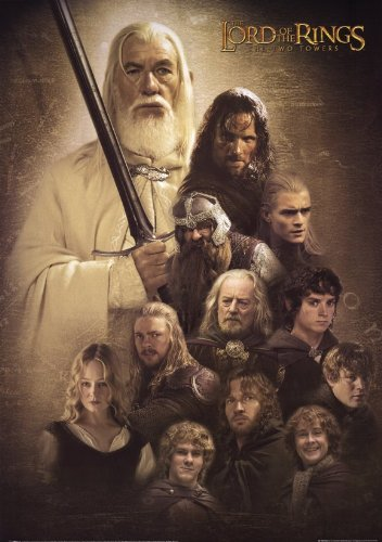 Click for larger image of Lord of the Rings: The Two Towers Poster Movie B 11 x 17 In - 28cm x 44cm Elijah Wood Ian McKellen Liv Tyler Viggo Mortensen Sean Astin Cate Blanchett