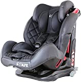 iSafe Isofix DUO TRIO PLUS ISOFIX + TOP TETHER CAR SEAT Group 1 2 3 9kg - 36kg - Raven Black