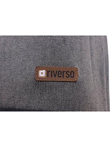 Riverso Herren Rundhals Pullover Todd mit Brusttasche Dark Grey (2890)