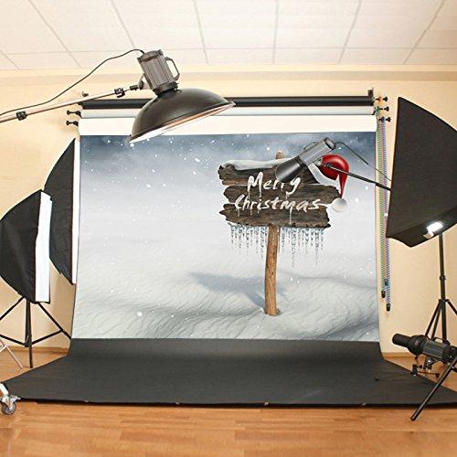 Werse 7X5FT Weihnachten Vinyl Hintergrund Fotografie Prop Xmas Studio Foto ()