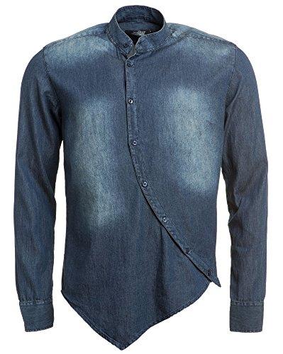 BLZ jeans - Chemise bleue délavée en jean Bleu