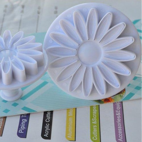 Honeysuck Sonnenblume Fondant Kuchen Plunger Cutter Daisy Gerbera Ausstecher Blume Form (weiß) (Gerbera Daisy Cutter)