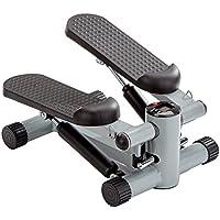Preisvergleich für GORILLA SPORTS® Mini-Stepper mit Zugbändern und Trainingscomputer – Heimtrainer Schwarz bis 110 kg belastbar