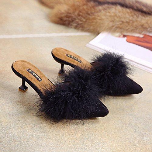 Youlee Mujer Fondo suave Zapatos de meter Zapatos planos de cuero Green EU 38/CH 39 5sfYf4