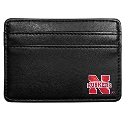 NCAA Nebraska Cornhuskers Leather Weekend Wallet, Black