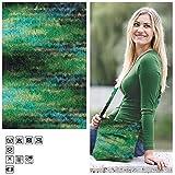 Creative Discount Filzwolle Color 50g, Fb.41, Schwarz Grün Multi