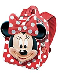 MINNIE - Petit sac à dos 30 cm Rouge Noeud 3D Deluxe Minnie Disney