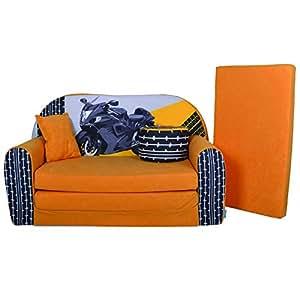 Lit enfant fauteuils canap sofa pouf et coussin moto - Amazon fauteuil enfant ...