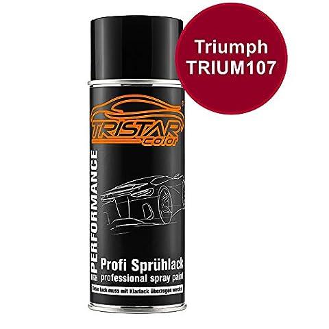 Motorradlack Spraydose Triumph TRIUM107 Candy Apple Red Metallic Basislack Sprühdose 400ml