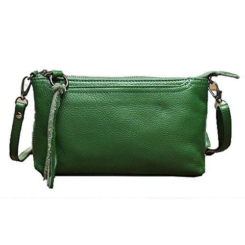 Wu Zhi Tracolla Da Donna Di Grande Capienza Multifunzione Sezione Rettangolare A Tracolla Messenger Bag Verde