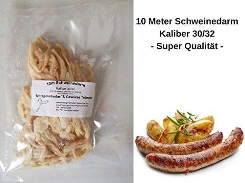 Schweinedarm Kaliber 30/32 10 Meter gesalzen Top Qualität Bratwurstdarm