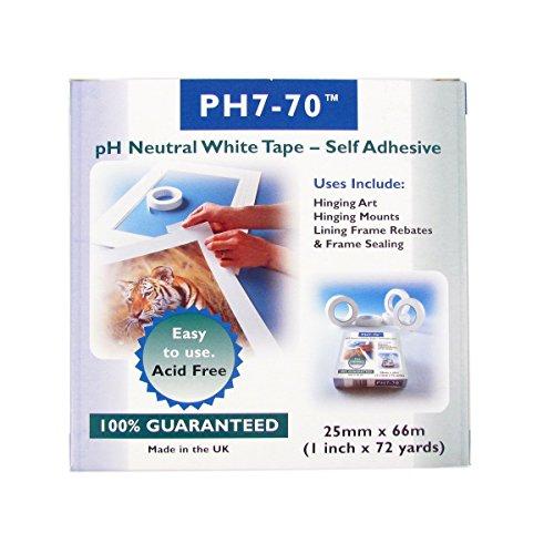 ph7-70libre-de-cidos-conservacin-fijacin-de-montaje-marco-retn-blanco-cinta-25mm-x-66m