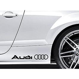 2x AUDI Premium Side Gonna Vinile Adesivi auto tt S3S4S5S6S8quattro S-Line