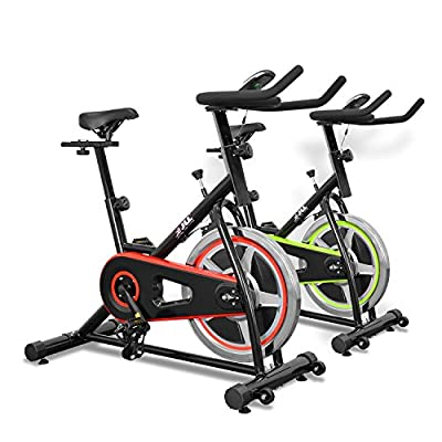 JLL IC200 Indoor Cycling Exercise Bike, Direct Chain Driven 10kg Flywheel with Adjustable Friction Resistance, 3-Piece Crank, 5-Function Monitor, Ergonomic Handlebars and Fully Adjustable Seat, Built In Wheels, 12 Months Home Use Warranty Only by JLL Fitn