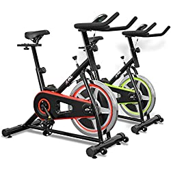 JLL Indoor Cycling Exercise Bike, Direct Chain Driven 10kg Flywheel with Adjustable Friction Resistance