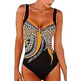 Darringls_Traje de baño,Bikini Una Pieza Bañador Push up para Mujer Verano bañadores Mujer Frente Criss Cruzado Beachwear Swimsuit Imprimir Estampado de Leopardo
