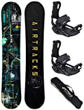 AIRTRACKS SNOWBOARD SET - PLANCHE DATA 155 - FIXATIONS MASTER L - SB BAG