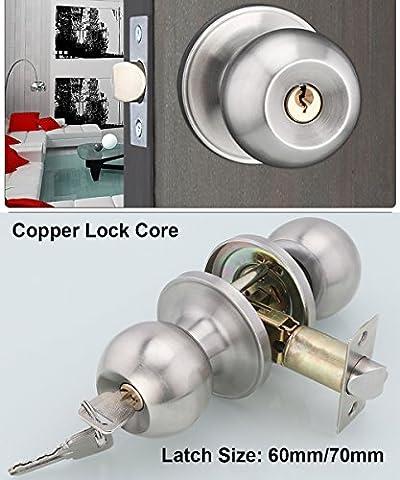Stainless Steel Entracne Passage Door Handle Lock Knobs Lockset -