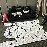 MOZHIYAN Teppich 130 * 185 cm Weiche Kinder Teppich Boden Baumwolle Matte Wohnzimmer Baby Teppiche und Teppiche Schlafzimmer Haus liefert